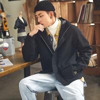 [2.5折价99.5元,叠加200-30】唐狮春季新款工装连帽外套男韩版学生青少年潮流帅气夹克上衣