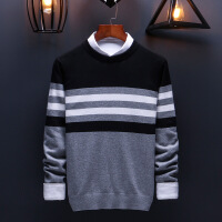 男士毛衣秋季2018新款潮上衣长袖加绒加厚冬季针织衫毛线韩版衣服