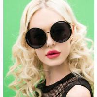 呆萌学院风流行 女士墨镜超大号大框太阳镜圆形眼镜 支持礼品卡