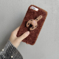 毛绒猫蛋蛋苹果7手机壳iphone6s可爱卡通保护套7plus个性创意潮女