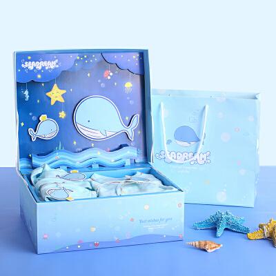 卡通礼盒大号长方形礼物盒海洋婴儿宝宝衣服包装盒翻盖立体礼品盒   仓库搬迁中,部分商品缺货,下单请联系客服,私拍有权不发货