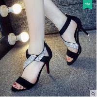 莫蕾蔻蕾凉鞋女夏季高跟新款镂空防水台性感鱼嘴鞋百韩版高跟细跟女鞋6x223ml