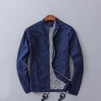 亚麻夹克外套男秋季新款修身青年休闲薄款棉麻上衣复古中国风潮流