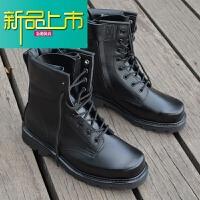 新品上市冬季劳保鞋男高帮加绒防寒钢头防砸防刺穿侧拉链安全鞋工地鞋