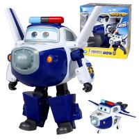 �W迪�p�@超��w�b玩具大��形�C器人全套�b小�w�b玩具 包警�L