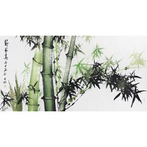 广西省美术家协会会员 吴山雨 《节节高》 133*69cm