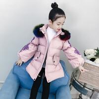 女童棉衣女孩中长款外套冬季中大童儿童棉袄