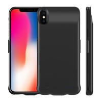 【新品上市】 iPhone XS Max背夹电池苹果XR无线背夹充电宝手机壳移动电源 XS 扣卡款5.8寸【黑色】现货