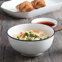 碗碟套装家用陶瓷碗筷景德镇骨瓷餐具北欧轻奢防烫隔热碗碟盘组合