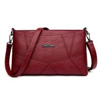 皮女包妈妈包包单肩斜跨手提包中年女士小包羊皮贝壳包