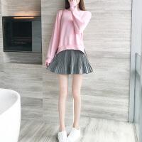 卡茗语2017秋冬新款卫衣套装女时尚chic小个子名媛短裙两件套韩版