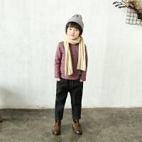 男童t恤长袖宝宝保暖上衣儿童高领打底衫