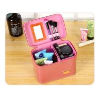 化妆包大容量双层手提化妆箱旅行收纳包多层美容美甲工具箱