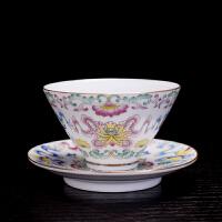 功夫茶杯陶瓷茶具水杯珐琅彩品茗杯主人杯个人杯茶具小茶杯茶盏