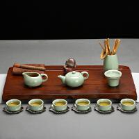 金镶玉 功夫茶具套装 百福海天套组 实木茶盘茶壶茶杯茶道泡茶炉整套BF-ZS