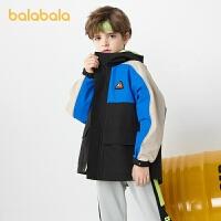 【券后预估价:185.8】巴拉巴拉男童外套2021新款春装童装中大童冲锋衣儿童潮酷休闲防风