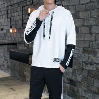 秋季男士卫衣套装韩版潮流青少年学生运动服连帽休闲春秋款两件套DJ-8361