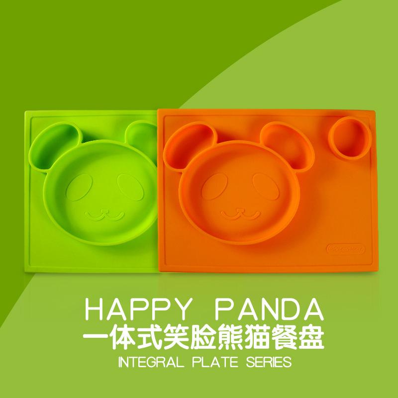 动漫宝贝 儿童硅胶餐垫 一体式防水抗菌餐具硅胶餐垫吸盘