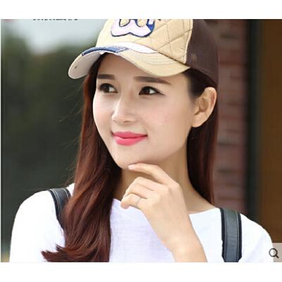 韩版潮户外 棒球帽子女嘻哈帽鸭舌帽运动帽遮阳帽防晒太阳网帽 品质保证 售后无忧 支持货到付款