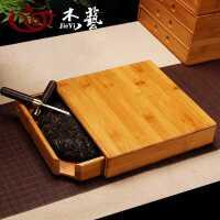 普洱茶盒茶叶罐茶刀茶具茶针茶锥茶饼架子工具竹制分茶盘茶道配件