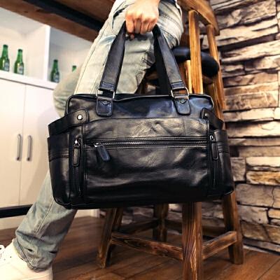 真皮韩版休闲男士手提包商务出差旅行包大号斜挎单肩行李健身潮包 发货周期:一般在付款后2-90天左右发货,具体发货时间请以与客服协商的时间为准