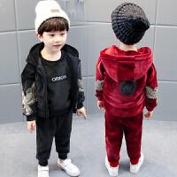 男童套装宝宝秋冬装三件套