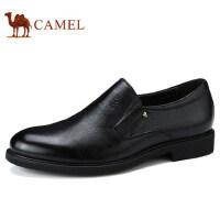 camel 骆驼男鞋 秋季新品皮鞋男商务正装低帮牛皮套脚男士皮鞋