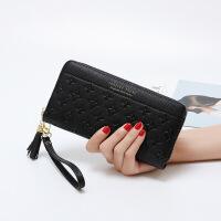 女生钱包长款韩版压花女士钱包长款拉链大容量手包女士钱夹