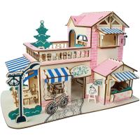木制3d立体拼图模型拼装儿童益智玩具男女生房子建筑别墅礼物
