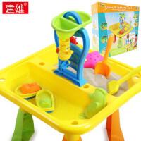 儿童室内外沙水桌玩沙戏水沙滩玩具套装桌组合宝宝挖沙工具