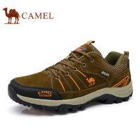 camel骆驼户外登山鞋男鞋低帮系带鞋防滑牛皮户外越野徒步鞋