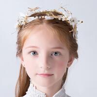 儿童头饰发饰公主花环水钻发箍花童礼服配饰品小女孩演出宴会发饰