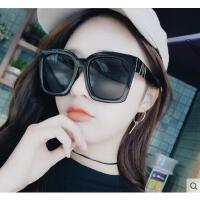 女墨镜 太阳镜 户外新款大脸圆脸大框太阳镜女显脸小 显瘦方形眼镜可调PC镜