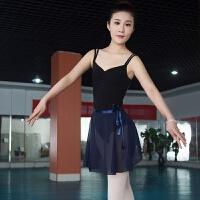 芭蕾舞蹈练功服双吊带体服形体服体操服连体服舞蹈服女夏