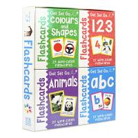 MK Get Set Go Flashcards 幼儿预备启蒙认知可擦卡片4盒 字母 数字 动物 颜色和形状 108张