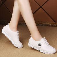 妈妈鞋软底舒适秋冬新款小红鞋大码软面皮鞋女单鞋孕软底妇鞋
