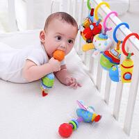 jollybaby 宝宝安抚手摇铃bb棒系列 3个月+婴儿牙胶磨牙棒拉震益智玩具