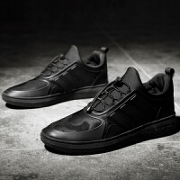 新百伦阿迪 2017春季新款休闲板鞋跑步鞋高帮青年潮流男鞋黑色