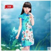 儿童古筝演出服装女童表演服小女孩旗袍唐装中国风民族舞服装儿童服装支持礼品卡支付