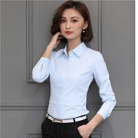 白衬衫女长袖短袖职业装女装工装韩版显瘦女士衬衣正装面试酒店工作服