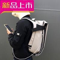 2018092302419时尚潮流男电脑双肩包背包男欧美学生帆布包书包男防水旅行运动包