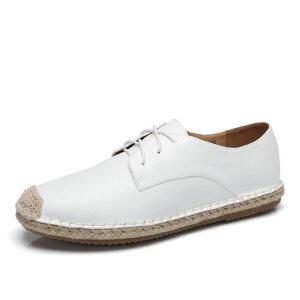 camel 骆驼男鞋 夏季新品日常休闲低帮系带复古渔夫鞋休闲男鞋