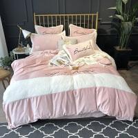 冬季珊瑚绒四件套双面绒水晶绒加厚保暖宝宝绒法兰绒床单床上用品