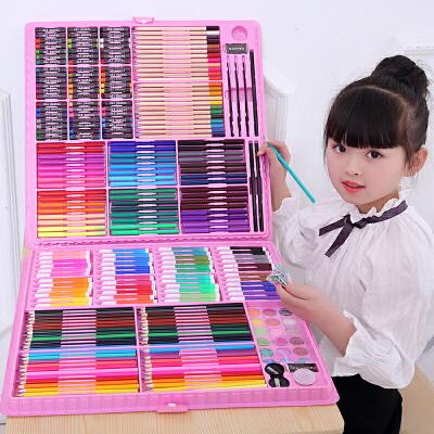 儿童水彩笔套装幼儿园画画小学生用绘画彩色笔手绘可水洗72色水彩画笔初学者彩笔套盒颜色笔·