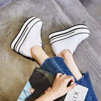 内增高10cm厚底小白2019新款女松糕高跟休闲学生板鞋单鞋春季