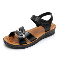 中老年凉鞋女鞋夏季妈妈鞋平底软底防滑耐磨老人凉鞋奶奶鞋孕妇鞋 37 偏小一码
