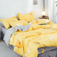 全棉纯棉床上四件套全棉纯棉床单被套可爱少女心公主款抖音同款 四件套 1.5m床 适合200x230cm被子