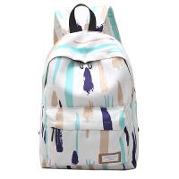 2018新款韩版彩色涂鸦帆布双肩包森系校园女学生小清新休闲背包