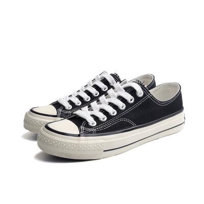 2019夏季新款经典女式帆布鞋1970S纯色低帮硫化鞋休闲百搭女鞋夏季百搭鞋 精挑细选
