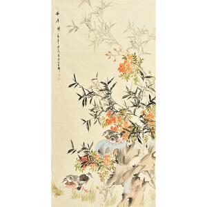 姜晓英四尺整张花鸟画gh02132